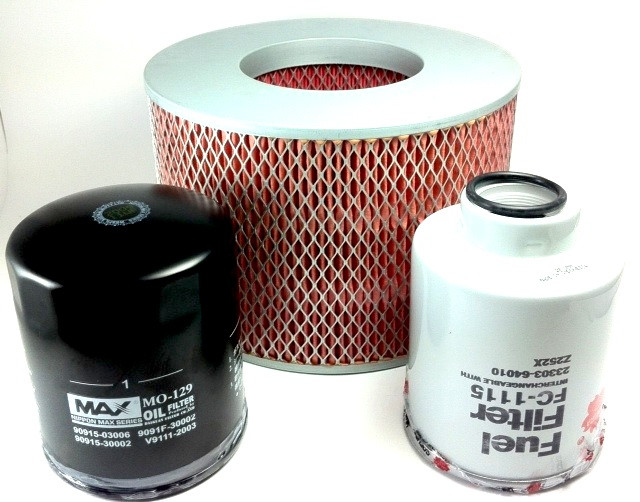 TOYOTA LANDCRUISER PRADO KZJ95R 3 0L TURBO DIESEL FILTER KIT