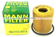 GENUINE OIL FILTER HU711/51x | CITROEN, FORD, MINI, PEUGEOT