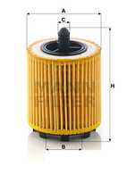 HU6007x OIL FILTER (Interchangeable with R2602P, 24460713, EO6507) | HOLDEN ASTRA, CAPTIVA