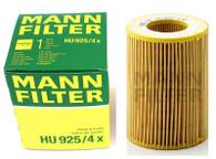 MANN OIL FILTER HU925/4X BMW (Interchangeable with R2592P)