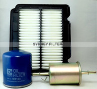 HOLDEN BARINA TK AIR OIL FUEL FILTER KIT