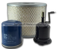 TOYOTA HILUX 2.0 & 2.7L PETROL air oil and fuel FILTER KIT