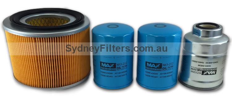NISSAN PATROL GU 4 2L TURBO DIESEL FILTER KIT (Same oil filters)