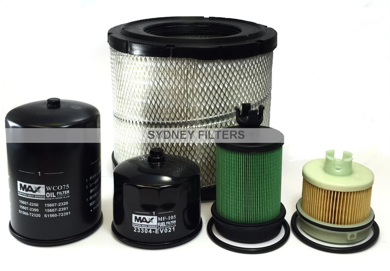 HINO 300 SERIES AIR OIL FUEL FILTER KIT, XZU700R, XZU710R, XZU720R
