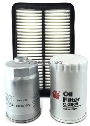HYUNDAI SONATA GRANDEUR CRDI AIR OIL FUEL FILTER KIT135