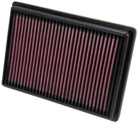 33-2476 K&N HIGH FLOW AIR FILTER to suit HOLDEN BARINA TM (interchangeable with WA5274, A1776)
