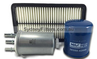 KIA GRAND CARNIVAL 2.9L TURBO DIESEL AIR OIL FUEL FILTER KIT (After market)