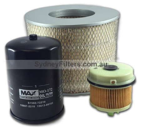 HINO DUTRO XZU305R, XZU345R AIR OIL FUEL FILTER KIT