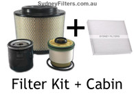 TOYOTA HILUX AIR OIL FUEL FILTER KIT PLUS CABIN