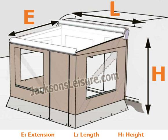 Dometic Motorhome Caravan Perfect Wall Camp Room Prostor