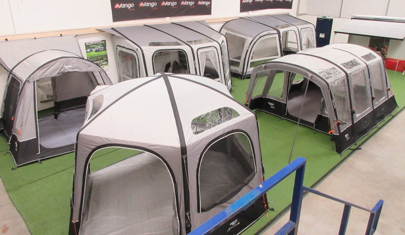 Wirral caravan shop vango awning display