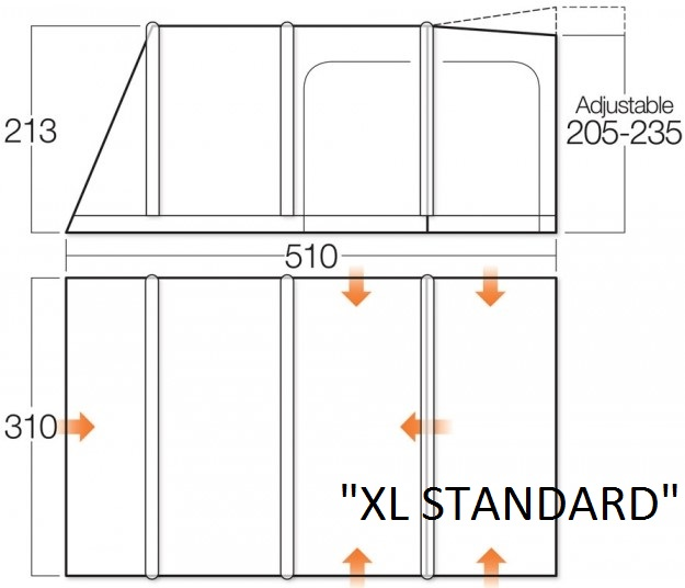 Vango Campervan Awning XL Standard
