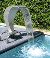 Swan Curtain 450 Ornamental Water Feature Fountain with a gloss finish (34387)