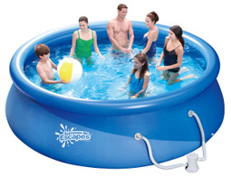 12ft Summer Escapes Fast and Easy Set Up Inflatable Above Ground Swimming Pool