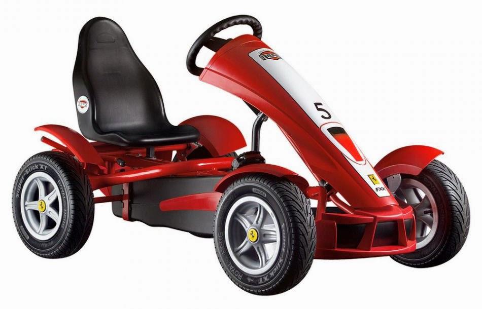 berg ferrari fxx racer kid's pedal go kart ride-on toy (062652)