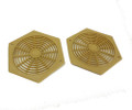 "3"" Caravan Motorhome & Boat Hexagon Furniture Vent (Pack of 2) (f514)"