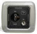 CBE TV Outlet Aerial Socket with Silver Support & Frame