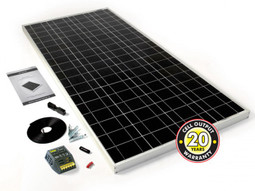 PV Logic 120w Motorhome Solar Panel Kit with 8Ah Controller (STP120MA)