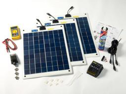 Flexi PV 60w Flexible Roof or Deck Top Solar Panel Complete Kit (SFPRT060)