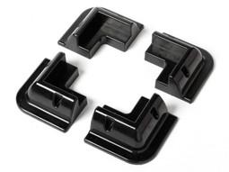 ABS Solar Panel Caravan Corner Panels (4 pack, Black) (STMP001)