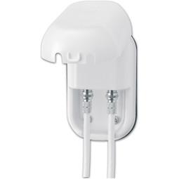 Maxview Single-F & Coaxial Weatherproof Satellite TV Socket in White