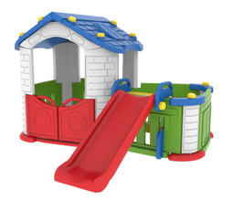 Sunshine Modular Playhouse With Kid's Play Pen & Slide
