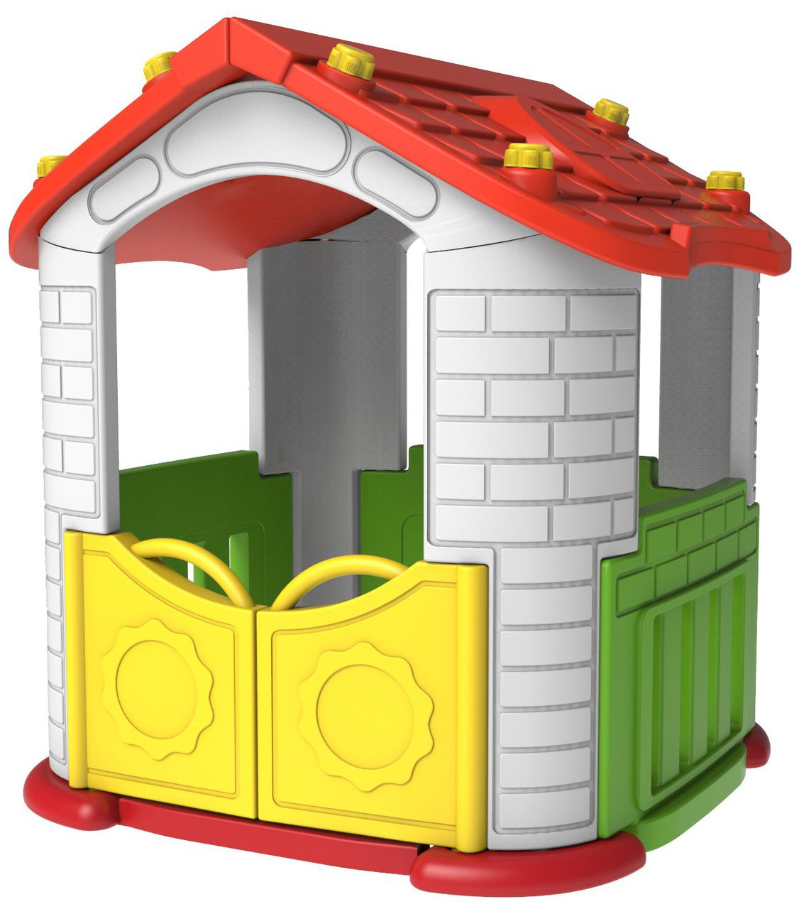 e1aba7deb899 Sunshine Modular Playhouse Kid's Slide and Play Pen (red roof and yellow  doors version). Larger / More Photos