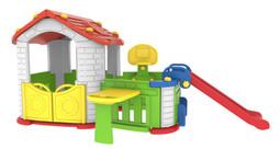 Sunshine Modular Playhouse with Basketball Hoop, Slide & Kid's Play Pen (CHD808)