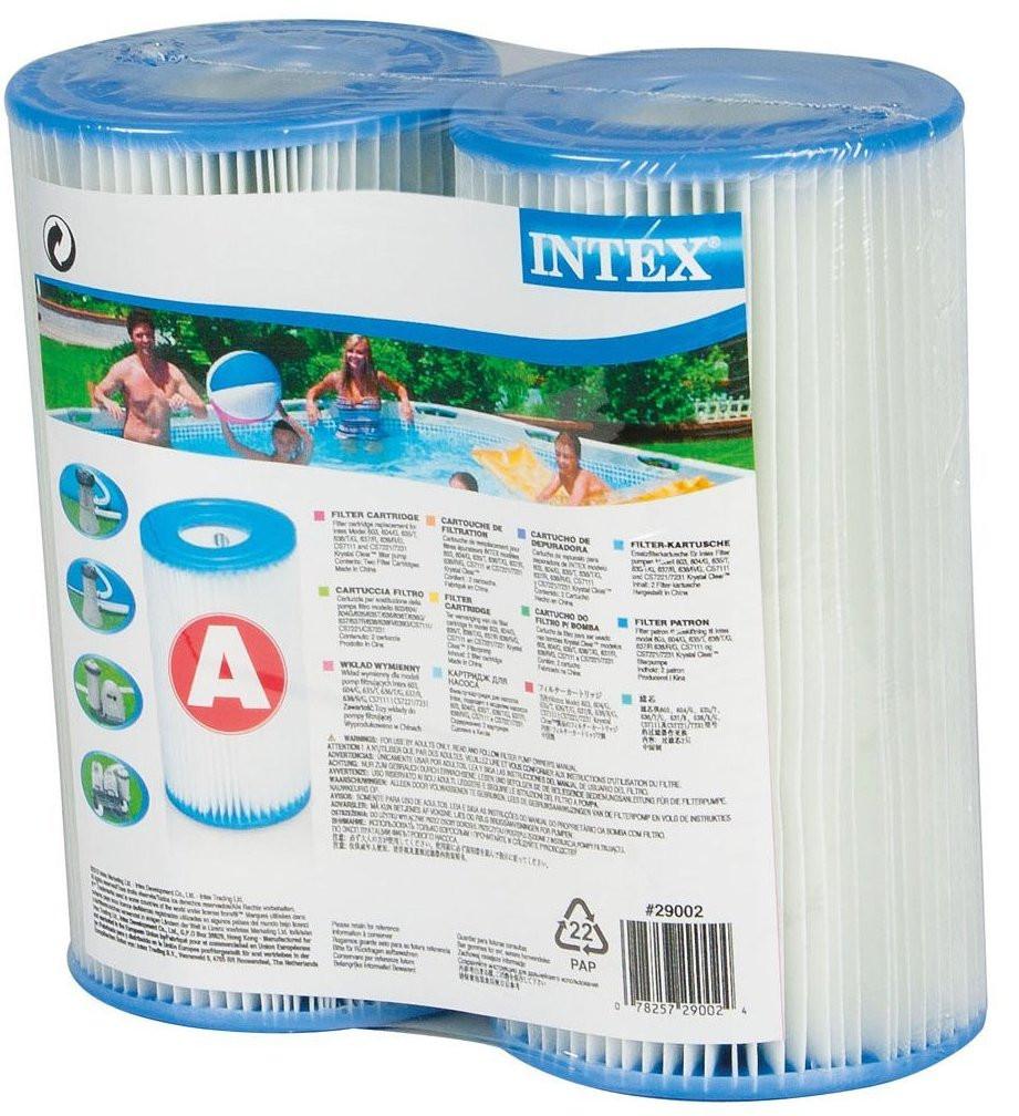 Intex Swimming Pool A Type Filter Cartridge Twin Saver Pack 29002