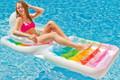 Intex Inflatable 2 in 1 Folding Pool Suntan Lounger (58847)