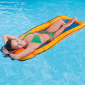 Intex Floating Mesh Base Inflatable Raft Pool Lounger / Orange (58836)