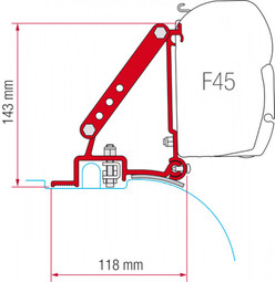 Fiamma F45 Awning Ducato Jumper Boxer High Roof Bracket Adapter Kit (98655-755)