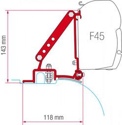 Fiamma F45 Awning Ducato Jumper Boxer Bracket Installation Kit (98655-680)