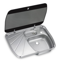 Dometic SNG 6044 Stainless Steel Caravan Sink with Drainer