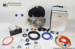 This Campervan Conversion Kit allows for optional customisation, making it easier to find the kit suited to you. *(Image shows cold water options with camping gaz regulator and right hand sink).