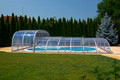 Lok Raised Front Telescopic Swimming Pool Enclosure