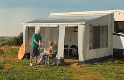 Dometic formerly Prostor Perfect Roof Camp Room being used by family