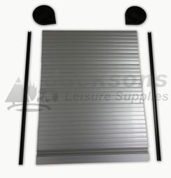 Loading zoom & Caravan Campervan Motorhome Silver Sliding Tambour Door