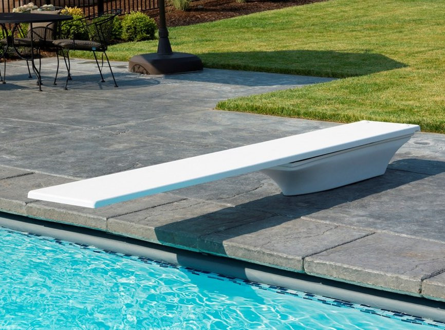 Frontier III Swimming Pool Diving Board and Flyte Deck stand