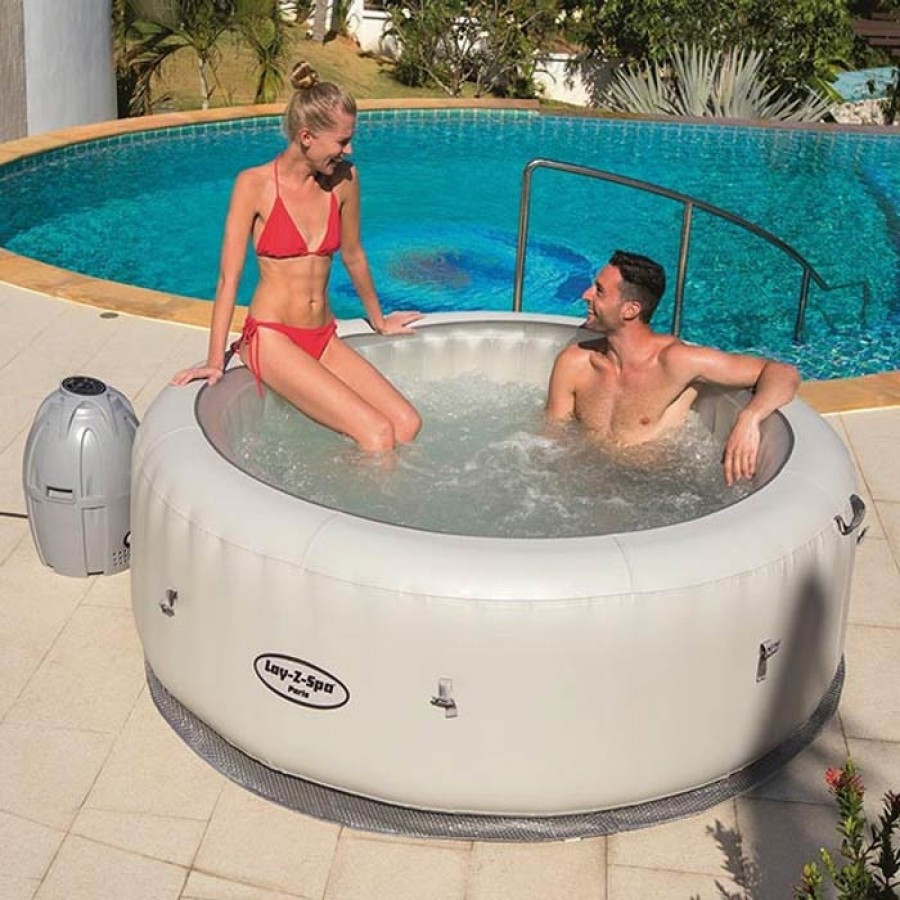 The Bestway Lay Z Spa Paris Inflatable Jacuzzi Style Hot Tub