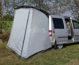 Reimo tailgate tent & Reimo VW Caddy Trapeze Rear tent and other mini camper vans with ...
