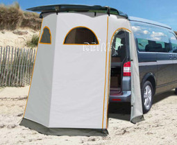 Reimo Fritz-Rear 2 Tailgate Tent at the beach & Reimo Fritz-Rear 2 Tailgate Tent for VW T5 T6 or similar Camper Vans