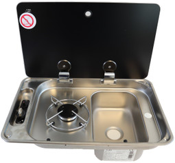 CAN Single Hob & Sink Campervan Combi Unit  Available in Left hand Burner and Right hand Sink
