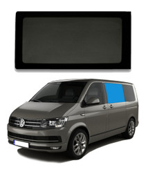 VW T5 T6 Bonded Privacy Glass Fixed Window - Front Left Hand