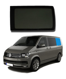 VW T5 T6 Bonded Privacy Glass Fixed Window - Rear Left Hand