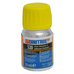 DINITROL 520 BONDED GLASS WINDOW ADHESIVE CLEANER ACTIVATOR 30ml