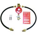 The 2 cylinder non OPSO manual gas bottle changeover regulator kit is suitable for use in your static caravan