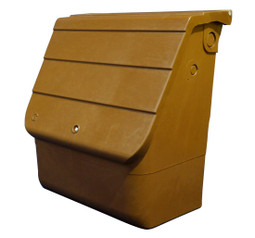The brown upright gas meter box is suitable for housing a G4 or U6 gas meter and can wall mounted or semi-submerged