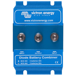 The Blue Power Argo Diode battery combiner from Victron Energy allows you to run two leisure batteries at once in your caravan campervan motohome or boat with the second battery taking over if the first fails