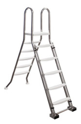 Astral Above ground swimming pool safety ladder with platform